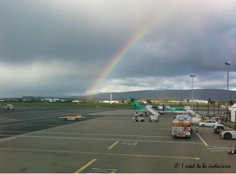 rainbow at Glasgow airport