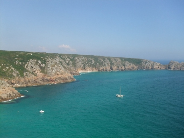 stunning view from Minack theatre