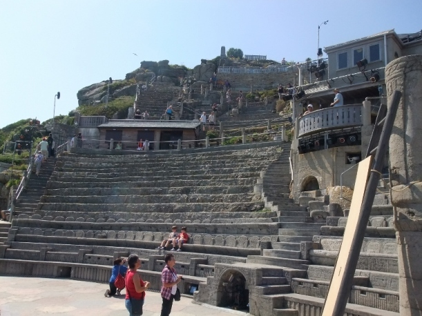 Minack theatre seating